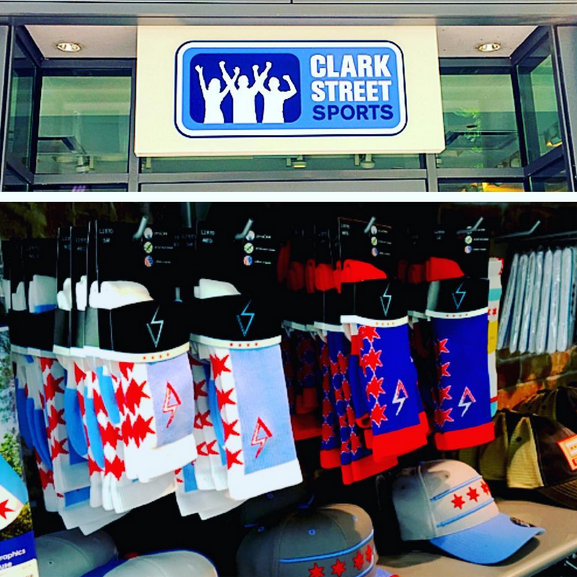 Available Online & In Stores   Find the socks in stores at   Clark Street Sports.