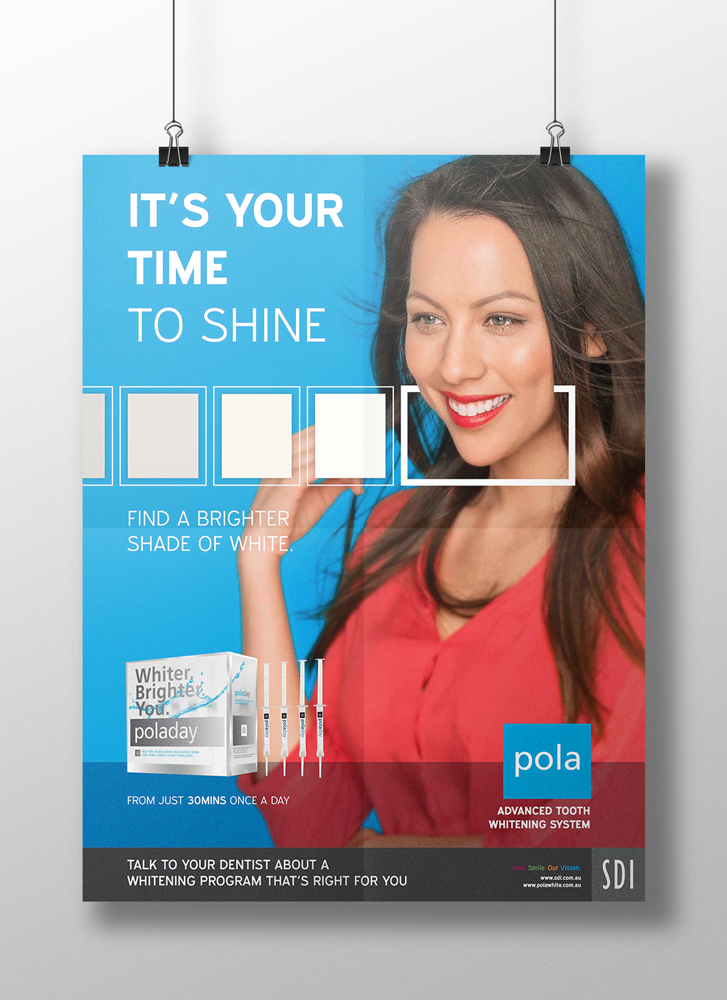 Whiter. Brighter. You. Poster