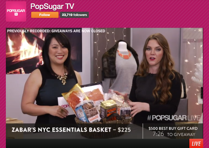 I showed off our favorite food gifts of the season in  POPSUGAR's Live! Holiday Gift Guide  in 2011 and 2013.