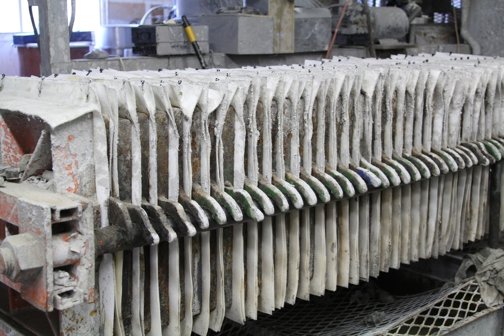 The Sausalito factory has been around since 1958 — something that's hard to believe considering how modern the factory appears. Here, stacks of clay are being aged as it makes it more plastic (read: stronger) in consistency.