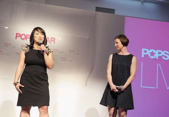 I presented POPSUGAR's food demo reel to advertising executives, media buyers, and publishers at the 2012 Digital NewFronts in New York. (Photo: Getty)