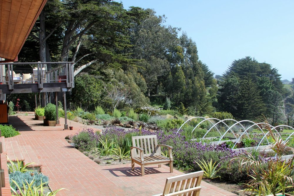 Part of the gardens on The Harbor House Inn property.