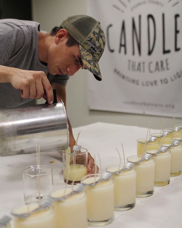Every candle is hand-poured here at our headquarters in Anaheim, CA #bringinglovetolight