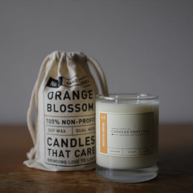 Our stock of Orange Blossom is running out and will be replaced with a new scent this week! To grab one of the last 10, head to our online shop at candlesthatcare.org #bringinglovetolight