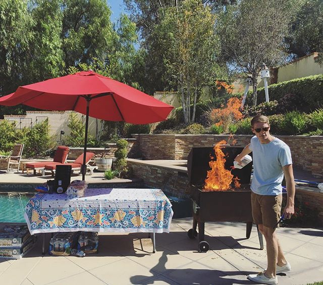 Jared's getting the grill going. Excited to see you all at the BBQ today!  5300 Highland Court, Yorba Linda, CA from 12-3pm