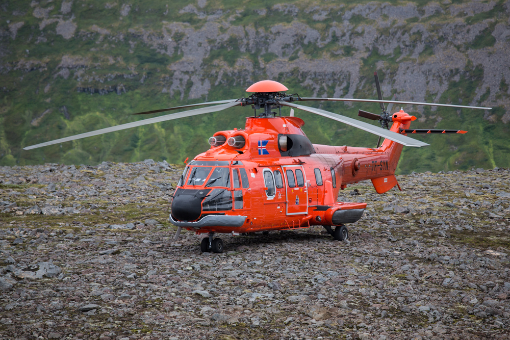 Helicopter rescue in Hornstrandir