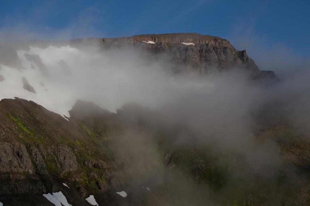 Fog and clouds in Hornstrandir