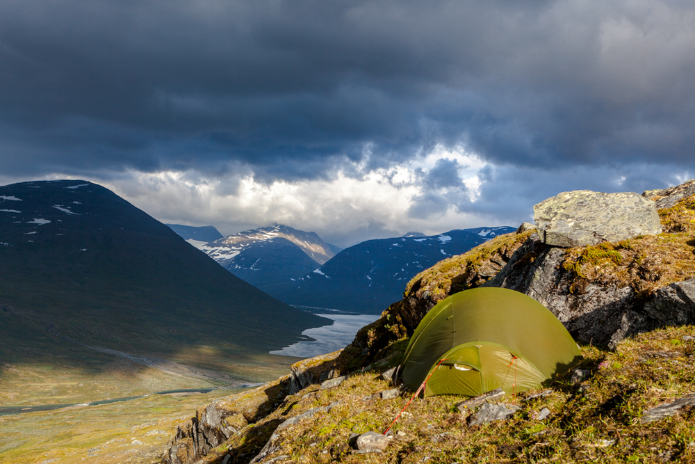 Camping in Sarek National Park
