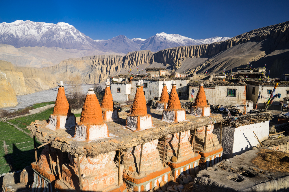 Colorful village in Kingdom of Mustang