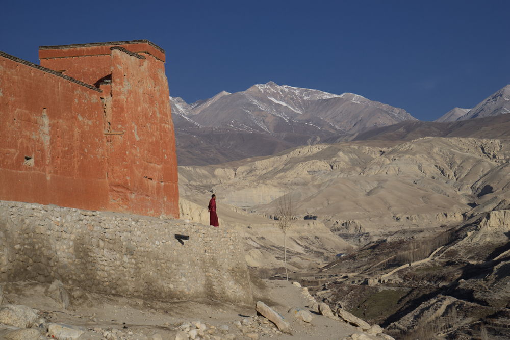 The wall of Lo Manthang