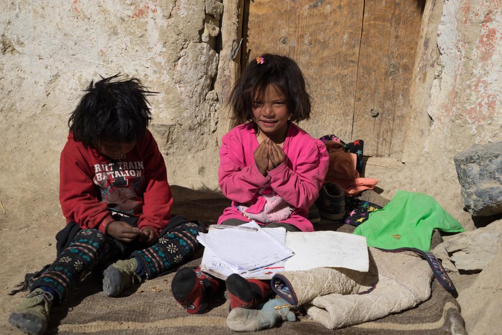 Little child in remote village