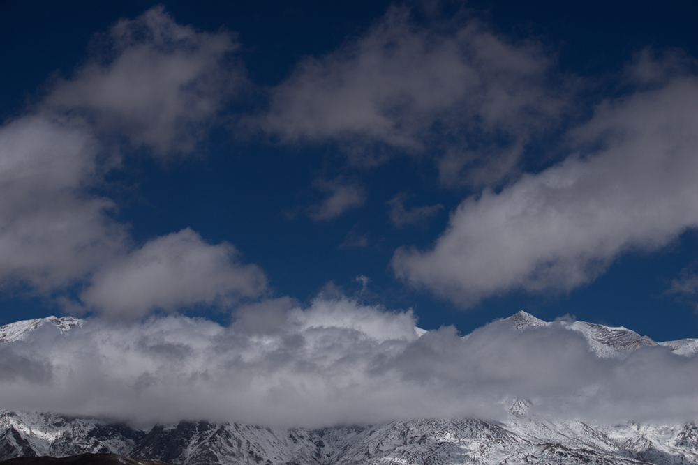 Beautiful sky close to Lo Manthang