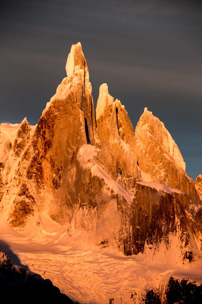 Cerro Torre in the early sun