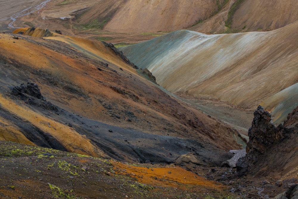 Colorful mountains near Landmannalaugur