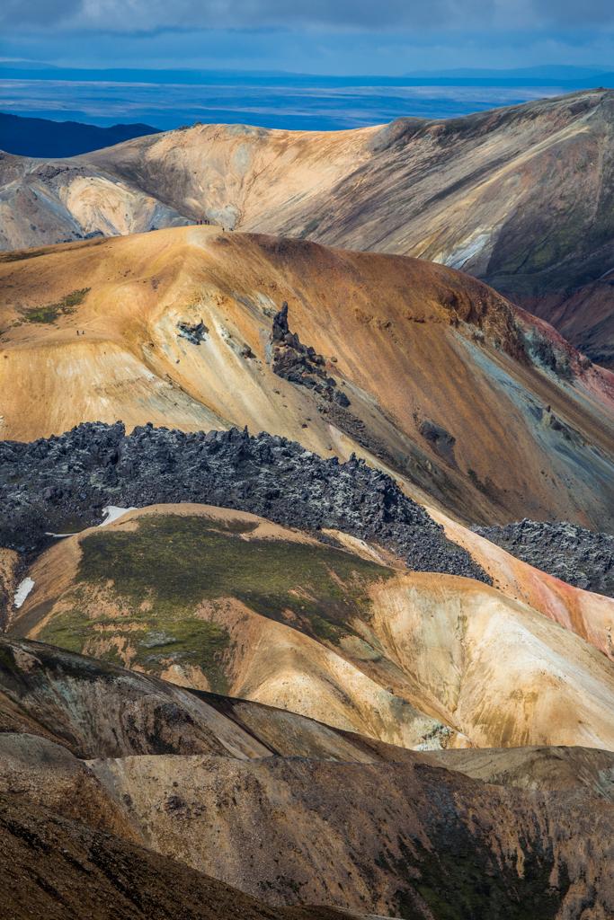 Vulcanic layers before Brennisteinsalda