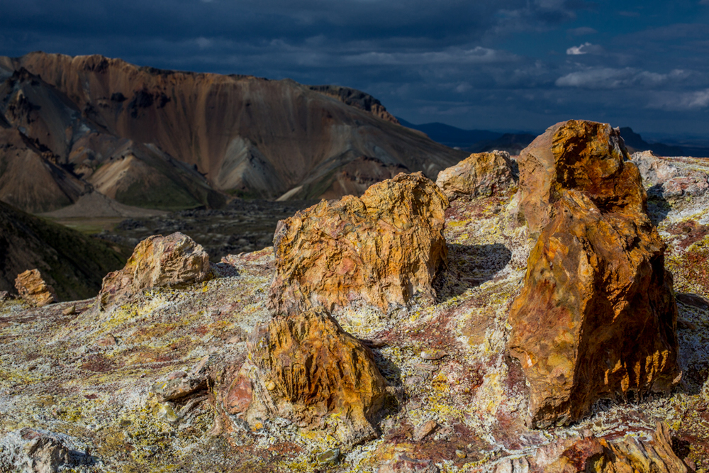Colorful vulcanic stones