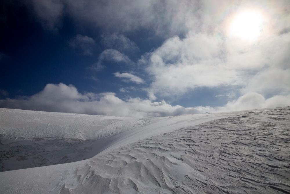 Deep wind-blown snow