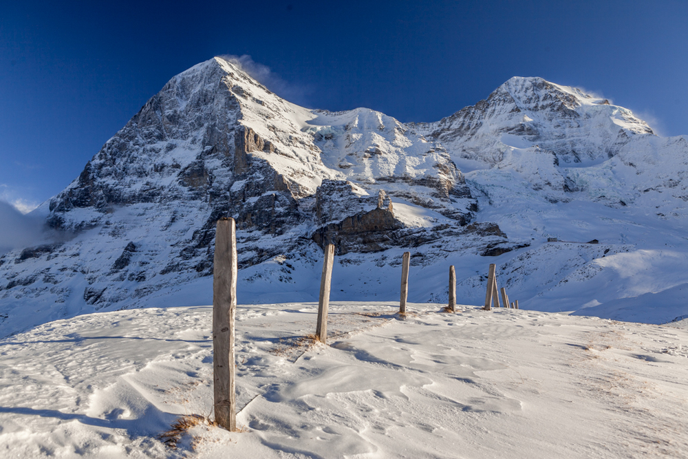 The Eiger north face in winter