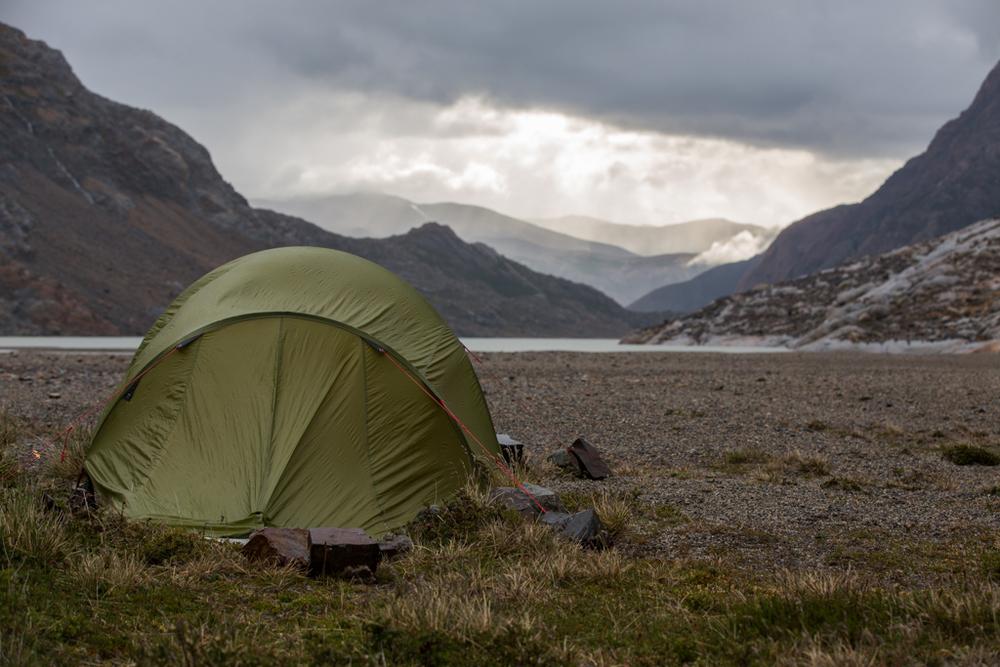Camp close to Lago Marconi