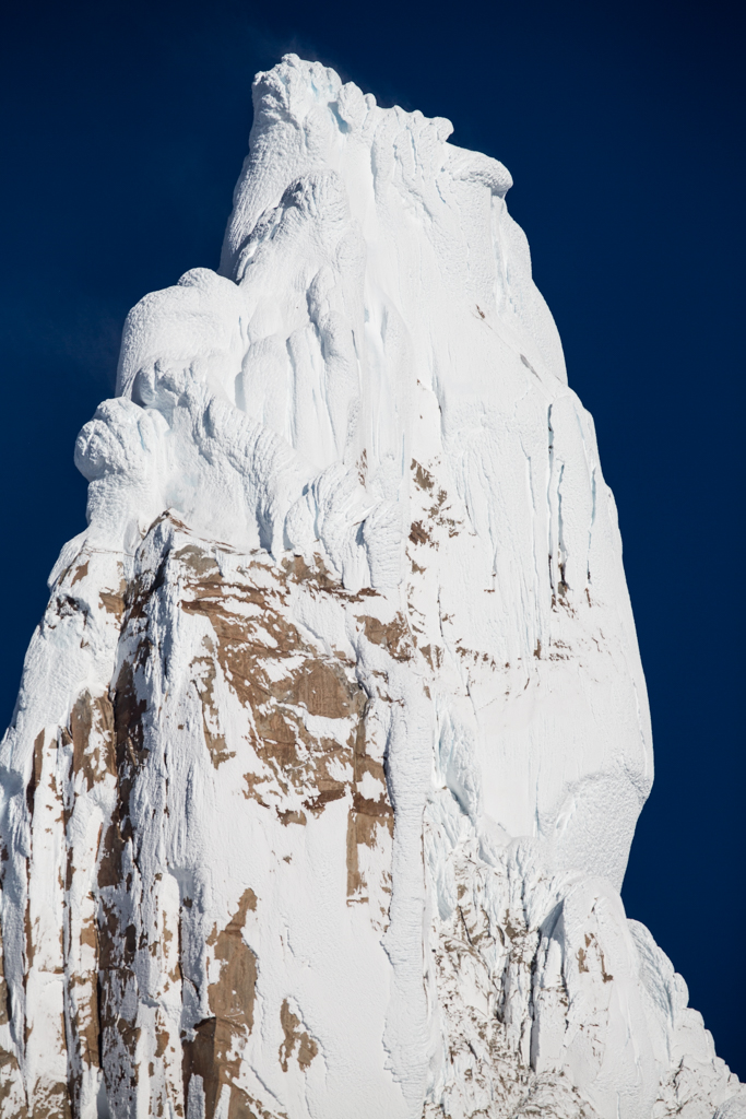 Ice cauliflowers on the summit of Cerro Torre