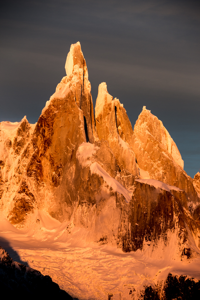 Beautiful light on Cerro Torre