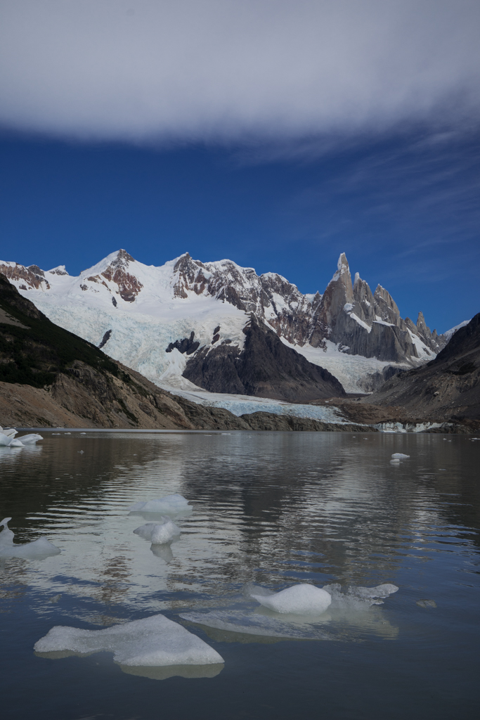 Some icebergs in Laguna Torre