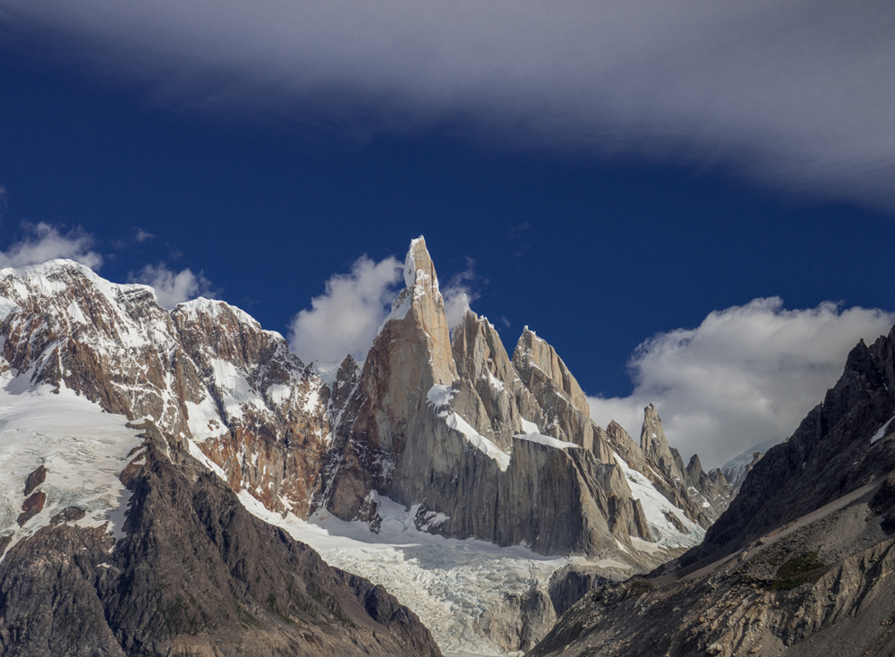 Beautiful clouds surrounding Cerro Torre