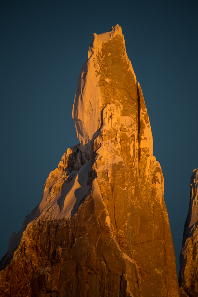 Summit of Cerro Torre from the west