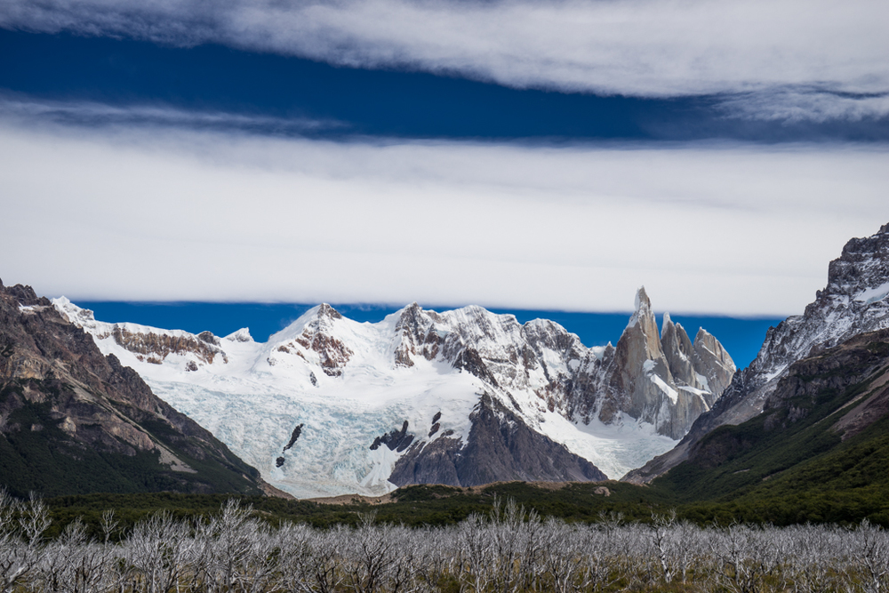 Panorama of Cerro Torre range