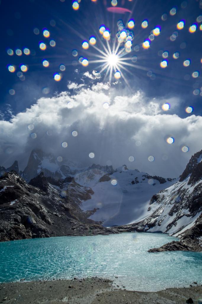 Rain and sun on Cerro Fitzroy