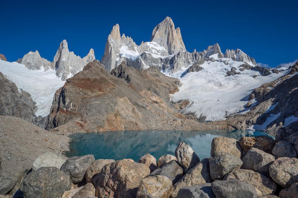 Stones, Lake and Cerro Fitzroy