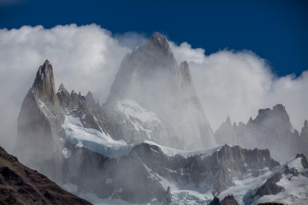 Cerro Fitzroy in clouds