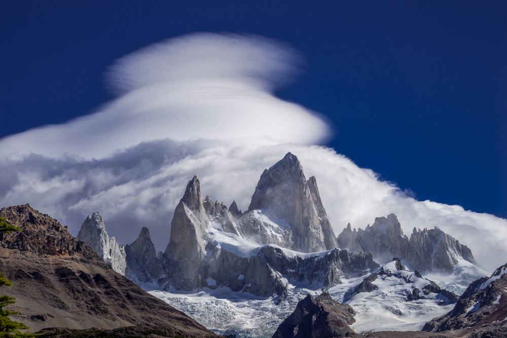 Lenticular clouds with Cerro Fitzroy