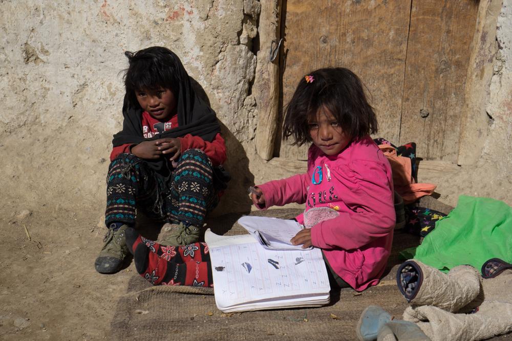 Little girls in Kingdom of Mustang