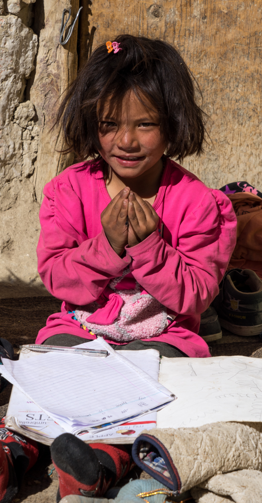 Little child in Kingdom of Mustang
