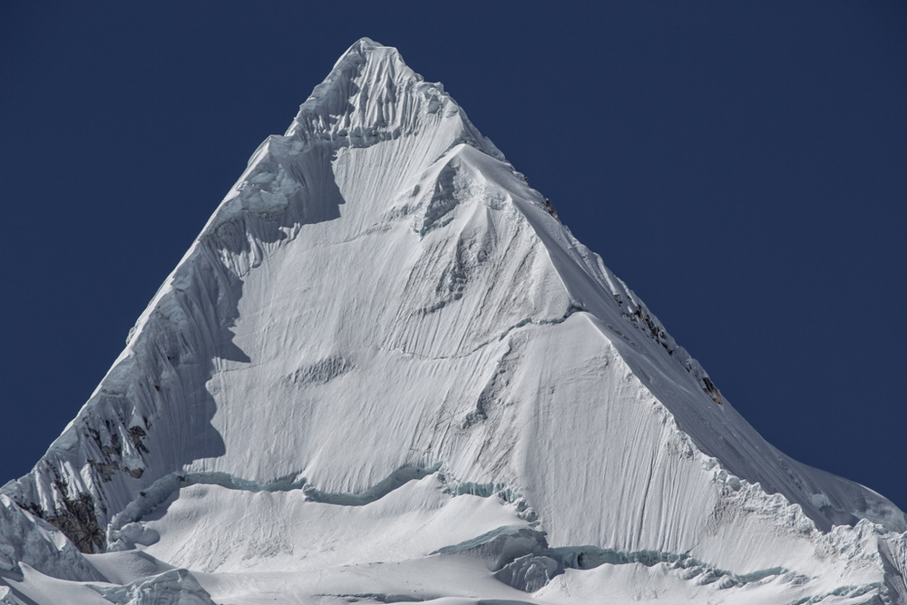 Alpamayo summit pyramid (5947m)