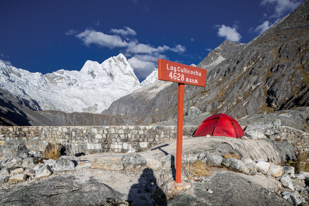 High camp in thin air