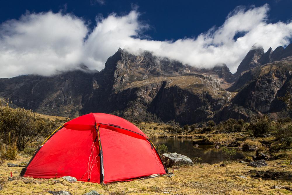 Camp at lake at 4250m altitude