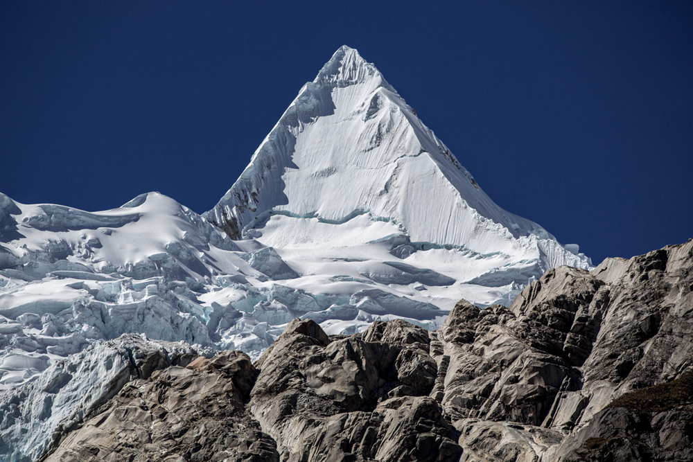Beautiful Alpamayo with glacier