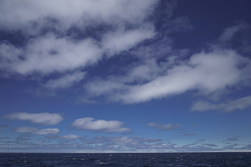Beautiful cloud formations on the sea