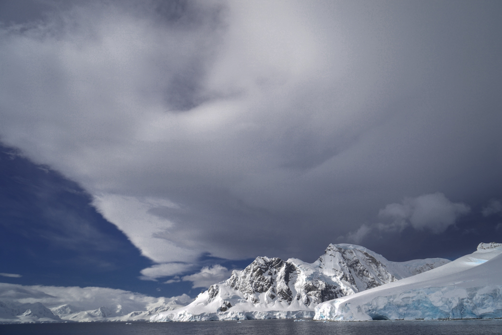 Sun and Clouds in Antarctica