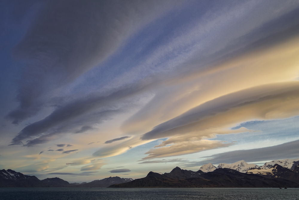 Evening clouds near Grytviken