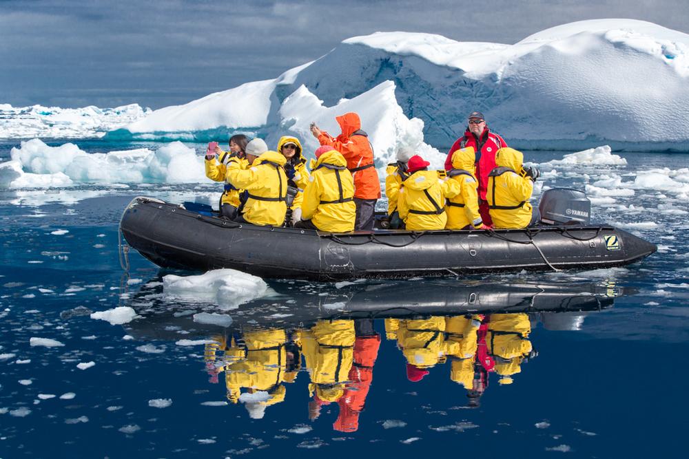 Mirroring Zodiac Cruise in calm sea