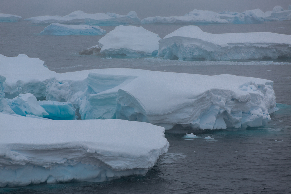 Layers of ice floes