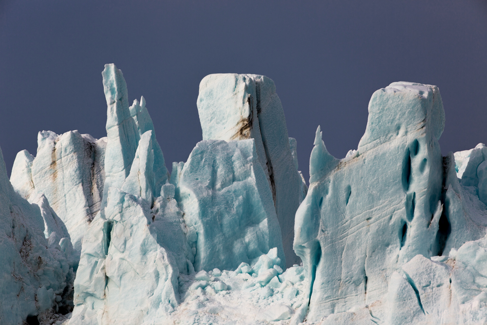 Icefall of a glacier