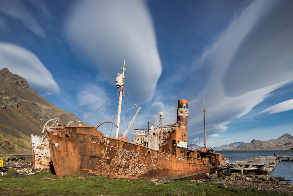 Old wreck in Grytviken/South Georgia