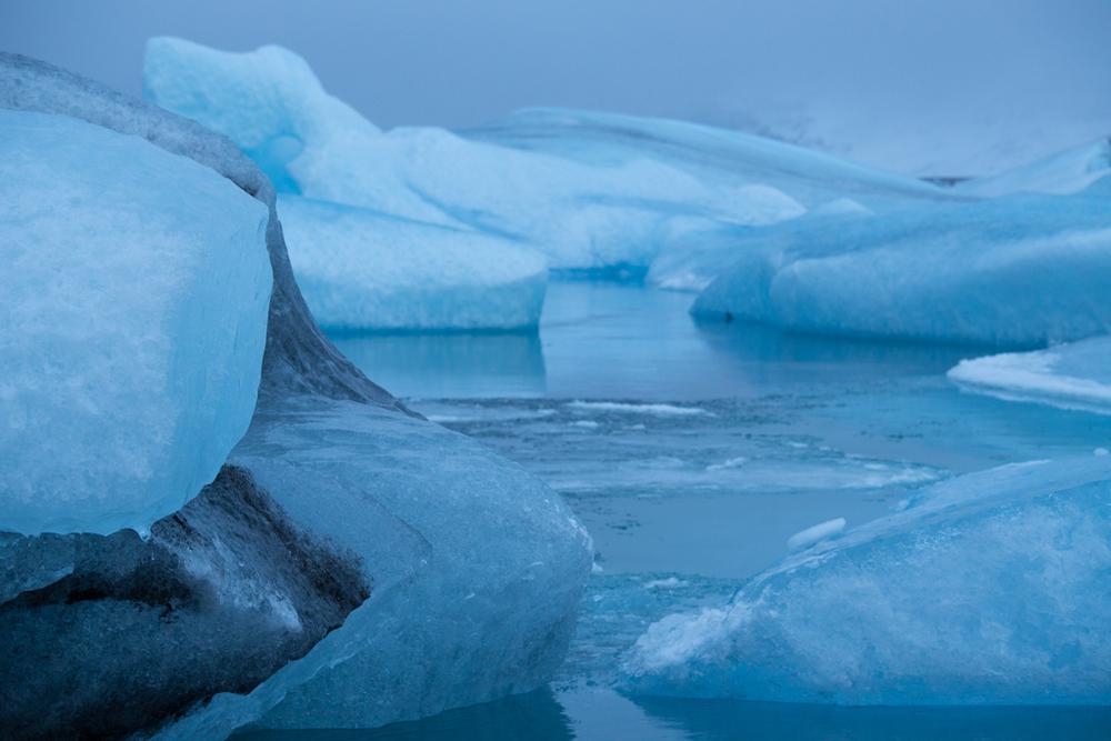 Blue ice in Jökulsarlon