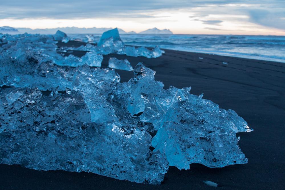 Icebergs on the beach