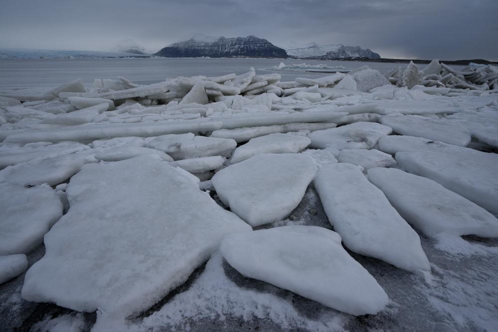 Ice floats on Jökulsarlon