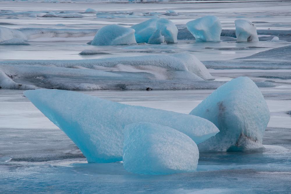 Huge iceblocks on Jökulsarlon